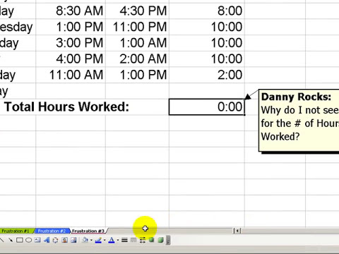 Three Frustrations When Calculating Time in Excel