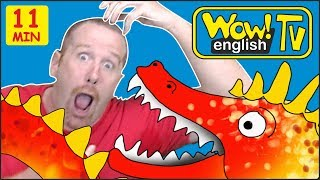 Zoo Animals, Ghosts and Scary Monsters for Kids from Steve and Maggie | Free Stories Wow English TV