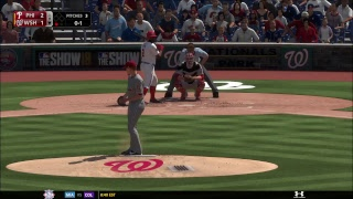MLB The Show 18 PS4 - Phillies vs Nationals Game 2 (Full Broadcast Presentation)