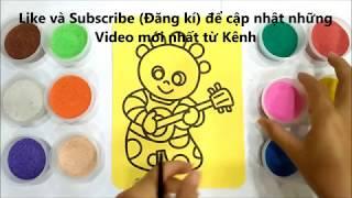 Đồ chơi trẻ em TÔ MÀU TRANH CÁT CHÚ RÙA BẢY MÀU - BÉ HỌC TÔ MÀU - Colored sand painting toys