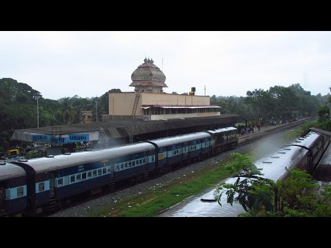 INDIAN RAILWAYS- Mumbai Mangalore Superfast Express; Full Journey in Karnataka, Asnoti to Mangalore