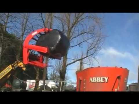 Bale Slice Round bale opening grab