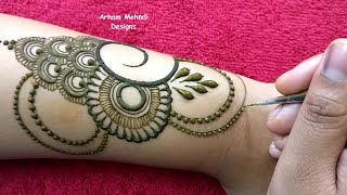 New Easy Beautiful Mehndi Design for Hand || EID 2019 Special Mehndi Design || Arham Mehndi Designs