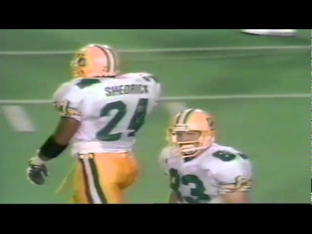Oregon FB Juan Shedrick 11 yard gain on screen pass vs. Texas Tech 9-14-91