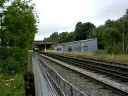 Merseyrail 507/8 speeds out of Bromborough