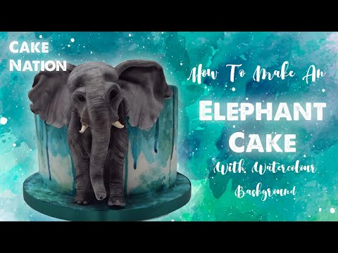 How To Make An Elephant Cake With Painted Background