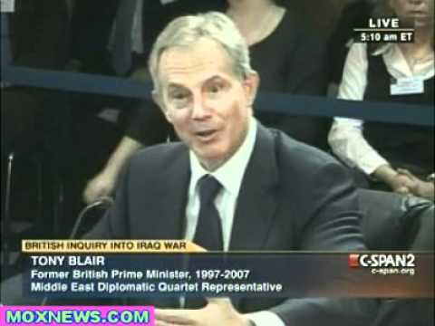 Tony Blair Iraq War Inquiry Jan 21, 2011 pt.1