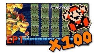 Modded 100 Mario Challenge - NSMB Mario Maker Mod - EP1