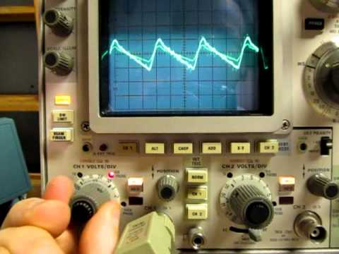 AC / DC Coupling on an Oscilloscope