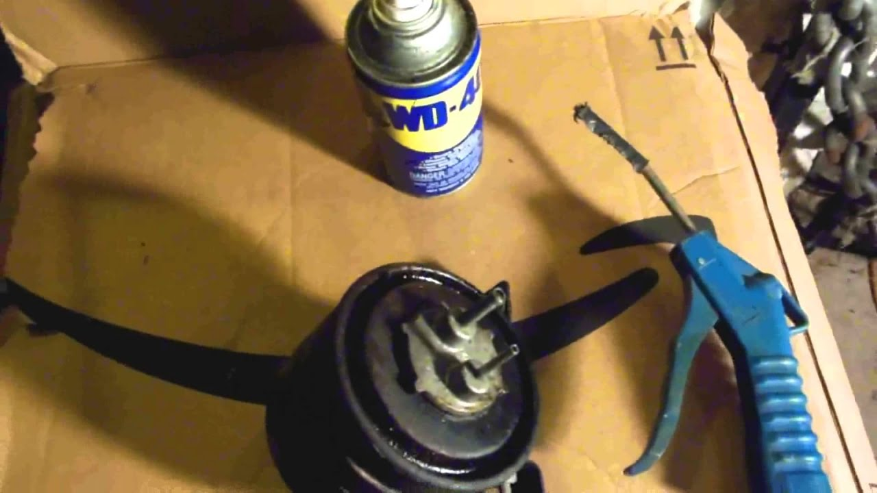 unclog a charcoal fuel vapor canister - easy fix