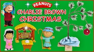 Peanuts Christmas Unboxing Episode | Opening Peanuts Nativity Figures & Charlie Brown Christmas Tree
