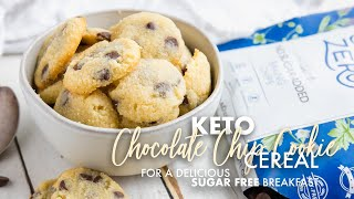 Delicious Keto Cookie Crisp Cereal • Sugar Free
