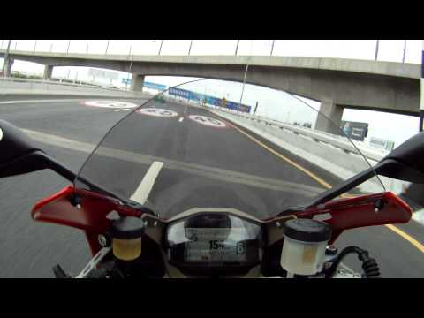 Onboard with Ducati 1199s Panigale Bangkok Highway.