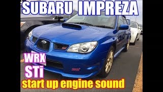 インプレッサ GDB WRX STi 始動音/ SUBARU IMPREZA GDB start up engine sound