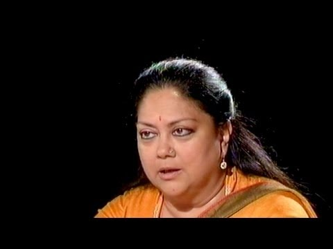 Seedhi Baat - Seedhi Baat: Vasundhara Raje