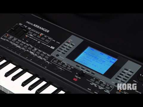 Korg microARRANGER  -- Recording and Editing Backing Sequences -- In The Studio With Korg