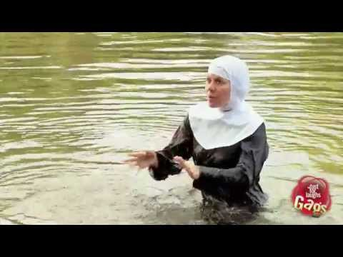 Nun In Water Prank