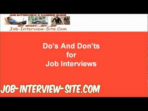 good and bad for interviews tips interview dos and donts - Good And Bad For Interviews Tips Interview Dos And Donts