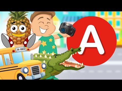 Alfabet Dla Dzieci - Literka A - Nauka Literek Bajka Dla Dzieci