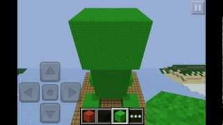 Minecraft how to make a creeper statue