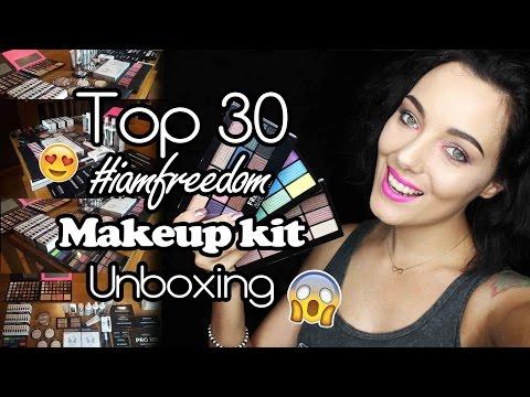 I AM FREEDOM AWARDS | TOP 30 | UN-BOXING HUGE MAKEUP KIT ♥