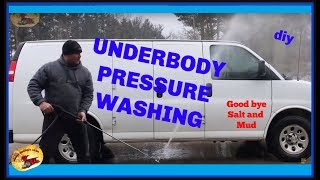 How To Pressure Wash Under A Car Or Truck & Neutralize Winter Salt