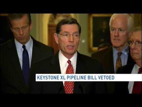 Obama vetoes Keystone XL pipeline bill in defiance of GOP