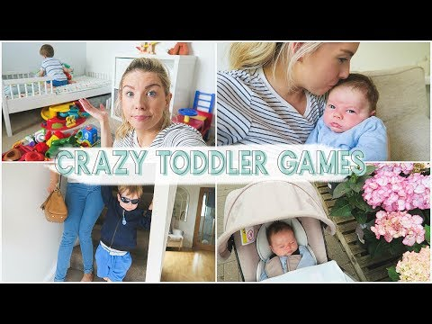 CRAZY TODDLER GAMES & A GRUMPY BABY | Day in the Life Vlog