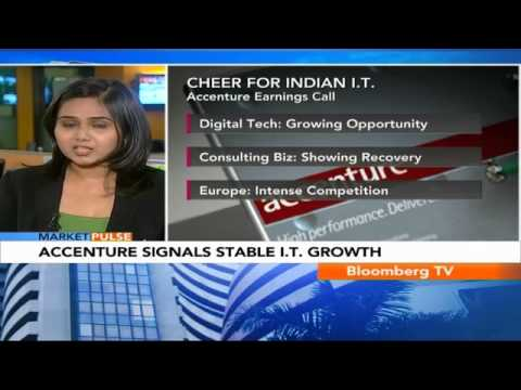 Market Pulse: Tech Stocks Boosted By Accenture Q3