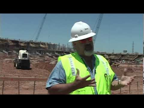 Baylor Stadium construction site tour