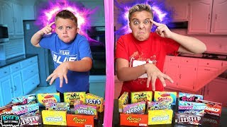 TWIN TELEPATHY CHALLENGE! KIDS SOUR CANDY GAME!