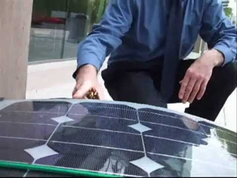100-watt Flexible Solar Panel on Vancouver Solar Electric e-Bike Trailer Needs Redesign