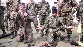 Assault Rifle Disassembly - US Marines vs Blindfolded Romanian Soldier.