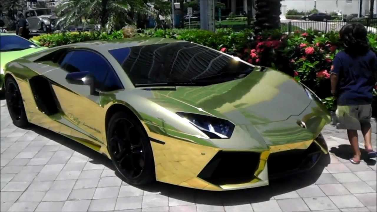 Gold Lamborghini Aventador All Wrapped In Gold Project