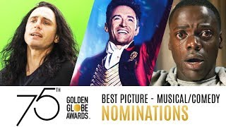 75th Golden Globe Awards Nominees | Best Picture Comedy/Musical Trailer Compilation
