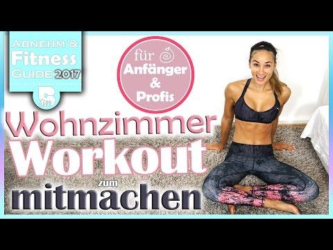 Wohnzimmer Workout - Bauch Beine Po und Oberkörper - Für Profis und Anfänger - mit Aufwärmen