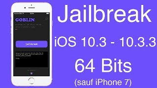 Jailbreak OFFICIEL iOS 10.3 - 10.3.3 - 64 Bits (sauf iPhone 7) avec G0blin
