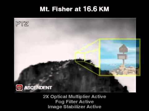 PTZ Extreme Long Range Camera Day Night Vision Surveillance system, with Fog Filter