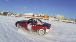 Моржи в Тушино | Mazda MX-5 Russian Winter Drift filmed with DJI Phantom