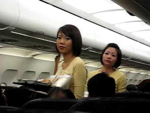 Beautiful Stewardess on Tiger Airways