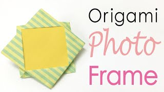 Easy☺︎ Origami Paper Photo Frame ✨DIY✨ - Origami Kawaii