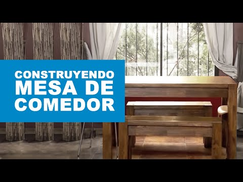 C mo construir una mesa de comedor youtube for Construir mesa de madera