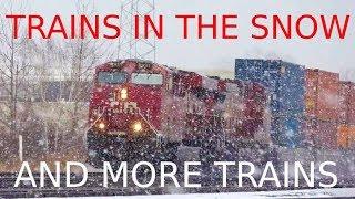 CP Trains in Snow CSX Mid Train DPU and More
