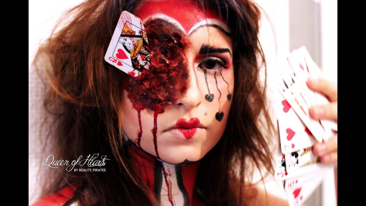 halloween tutorial queen of hearts maquillage halloween youtube. Black Bedroom Furniture Sets. Home Design Ideas