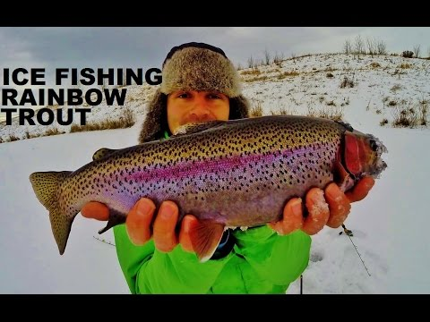 HOW TO ICE FISH EAST PIT RAINBOW TROUT