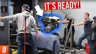 THE TWIN TURBO 6G72 ENGINE IS IN!!!! (READY FOR +500HP?)
