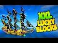 2v2 XXL LUCKY BLOCK PIRATEN BATTLE | Minecraft Mods