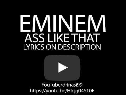 Eminem Ass Like That (official Lyric Video) | Dhx | video