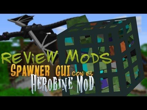 Minecraft de PC: Review Mods Spawner GUI con el Herobine Mod para version 1.3.2!!