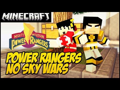 POWER RANGERS NO MINECRAFT!! (SKY WARS)